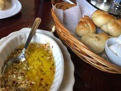 Garlic Knots and dipping sauce