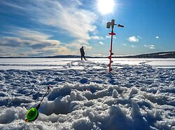 We go for the Ice - Fishing in Lapland