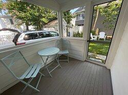 Unit 12 back porch cafe table