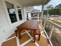 Unit 12 Screened porch dining table