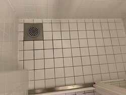 dirty grout in shower