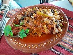 Pork stew with veggies