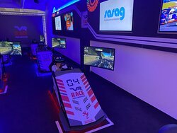 VR Race während Rennen