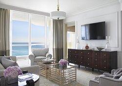 One Bedroom Oceanfront Suite Living Room