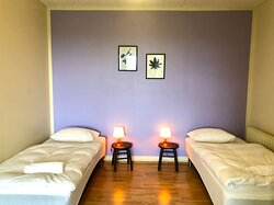 Comfortable beds in our triple rooms