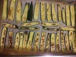 La cottura in forno delle zucchine a km 0.