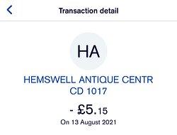 £5.15 for tea & cake.