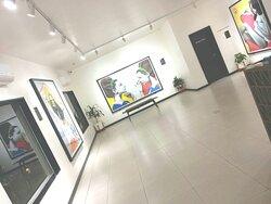 Atelier Hotel with Jacqueline Suowari's Art.