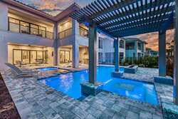 Backyard of residence (Private pool, Heated Spa, Summer Kitchen)