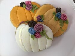 Delightful pumpkin shaped cookies for Fall.