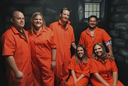 The prisoners were able to break free in our Jail Break room.