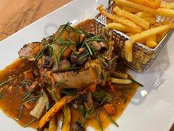 Carré de porc français en plat du jour