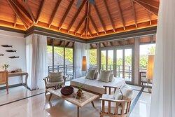 JA Manafaru - Three Bedroom Island Residence with Family Pool & Private Pool. The Upper Lounge
