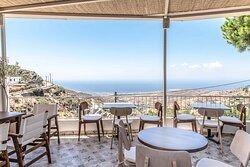 Part of the terrace with stunning sea views.