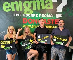 Some of our happy customers who escaped from our Hostage room.