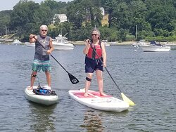 SUP in Cold Spring harbor
