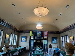 Main dining room with flags of German states