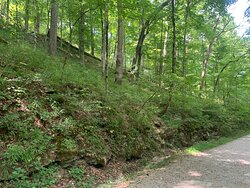 The trail to the river leaving the natural entrance