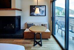 The Cloudveil Suite Bedroom - Sitting Area