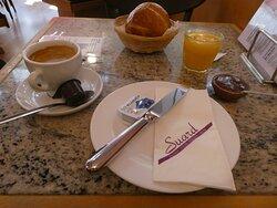 my breakfast with Cuchaule and Benichon mustard