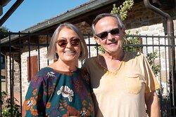 Franco e Patrizia, i mitici proprietari dell'agriturismo!
