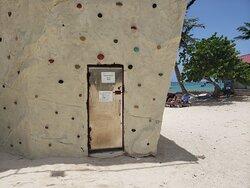 Rock climbing wall closed