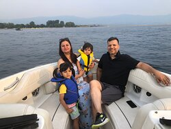 """July 18th 2021. Ruchin and lovely family came out for a leisurely Fun in the Sun """"Gael Force' Style cruise."""
