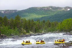 The world-class white water rafting in Norway's wilderness.