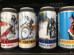 Assortiment de bières locales