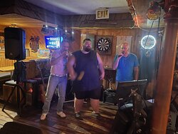 The guys closing the bar on Karaoke night
