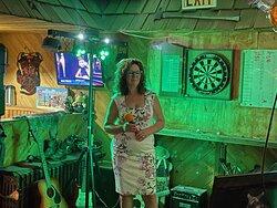 Beautiful wife karaoke style :)