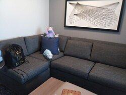 L shaped sofa.  Quite a large sofa.