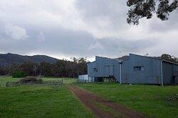 Bolganup shearing shed and Porongurup Range