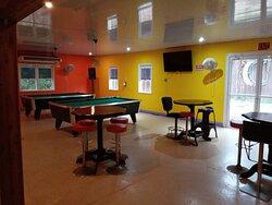 Pool tables area