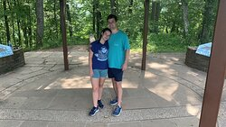 My son and girlfriend standing in 3 states