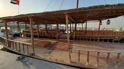 The boat that takes you to the pearl farm structure