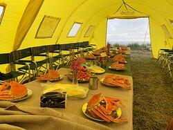 Приветственный обед на побережье Тихого океана