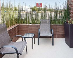 Relax on the hotel patio