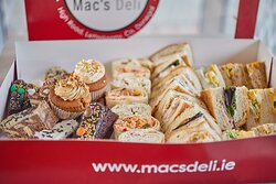 These Mac's Deli Treat Boxes are ideal for corporate events and family gatherings.