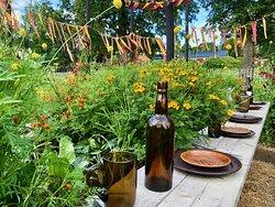 Wij trädgårdar - theme garden by students at Bollnäs folk high school
