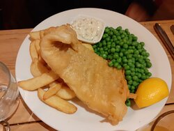 Cod and Chips - with not-very-crispy batter