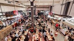 Urbanspace Food Hall on Vanderbilt featuring Seating and Vendors