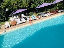 La piscina privata di Casa Mancia