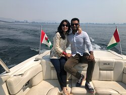 """July 2021. Another great afternoon Fun in the sun """"Gael Force"""" Style cruise with this lovely couple from Vancouver."""