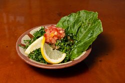 Thinly diced tabouleh is one of the famous salad dishes of the east, with a lemon zest and fresh spices