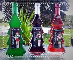 Holiday wines in Christmas tree-shaped bottles