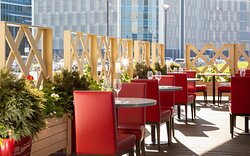 Catch sunny days at our summer terrace