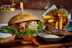 Spanferkelburger