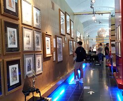 Visitors admiring the artworks of Salvador Dali