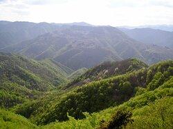 panoramica delle montagne circostanti il Rifugio Pacini